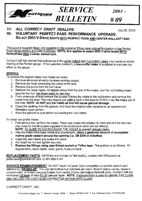 Recall Notices And Service Bulletins  2001