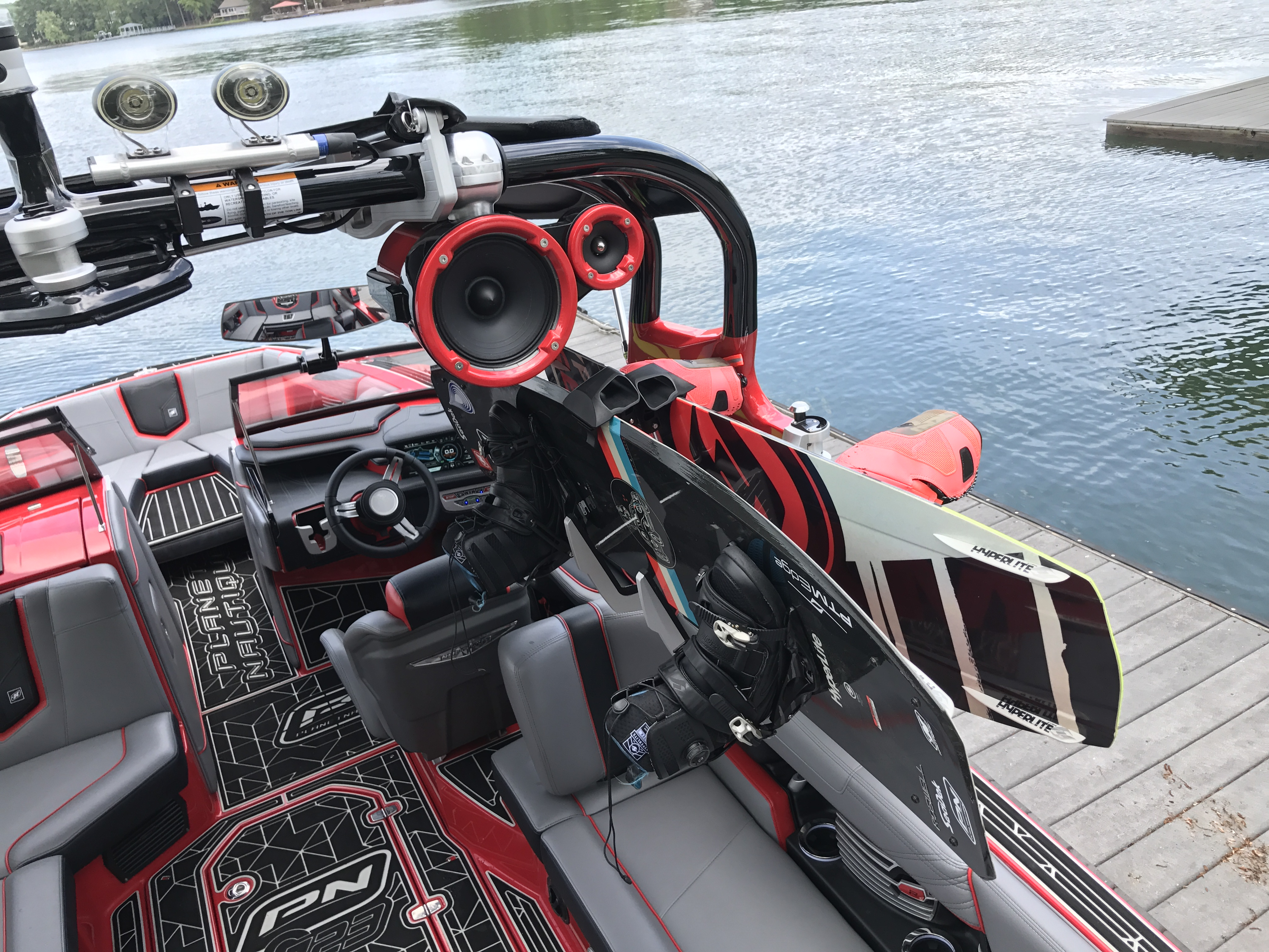 Review Of The Nautique Strapless Board Rack By Roswell Triton Racks Wiring Diagram Hi Fi Is My Widest Surfboard And Again It Easily Cleared Neptune Tower Speakers