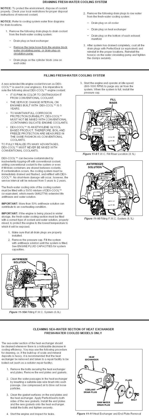 Winterization Procedures Gm Engines Planetnautique Forums Engine Coolant Diagram Drain And Replace The