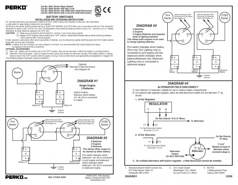 perko battery switch wiring perko image wiring diagram perko battery switch wiring diagram wiring diagram and hernes on perko battery switch wiring