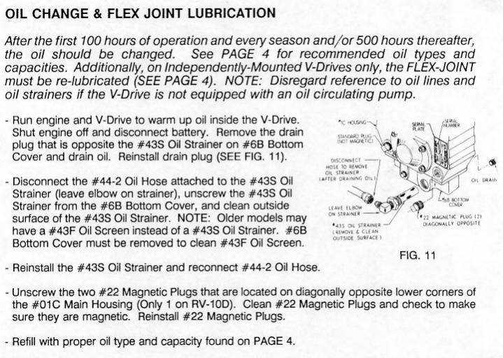 How Much Is An Oil Change >> V Drive & Transmission Oil Change - PlanetNautique Forums