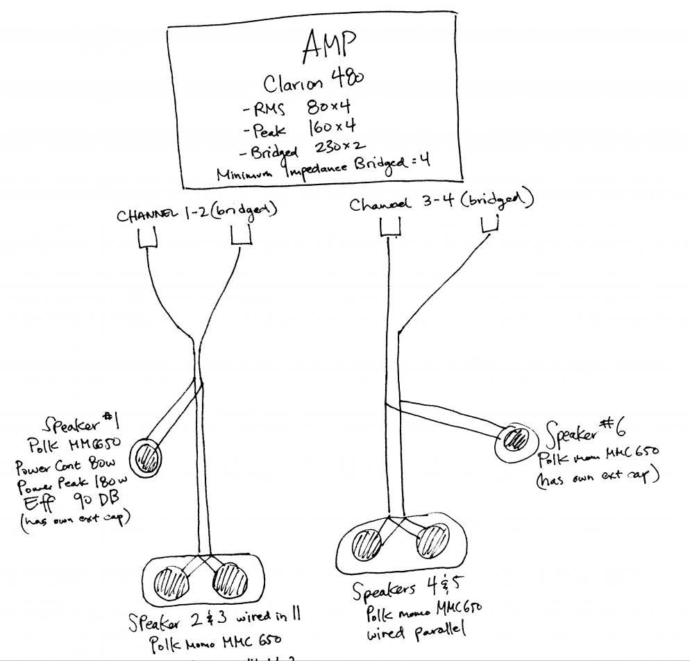 Amp/speaker wiring, series vs parallel help please