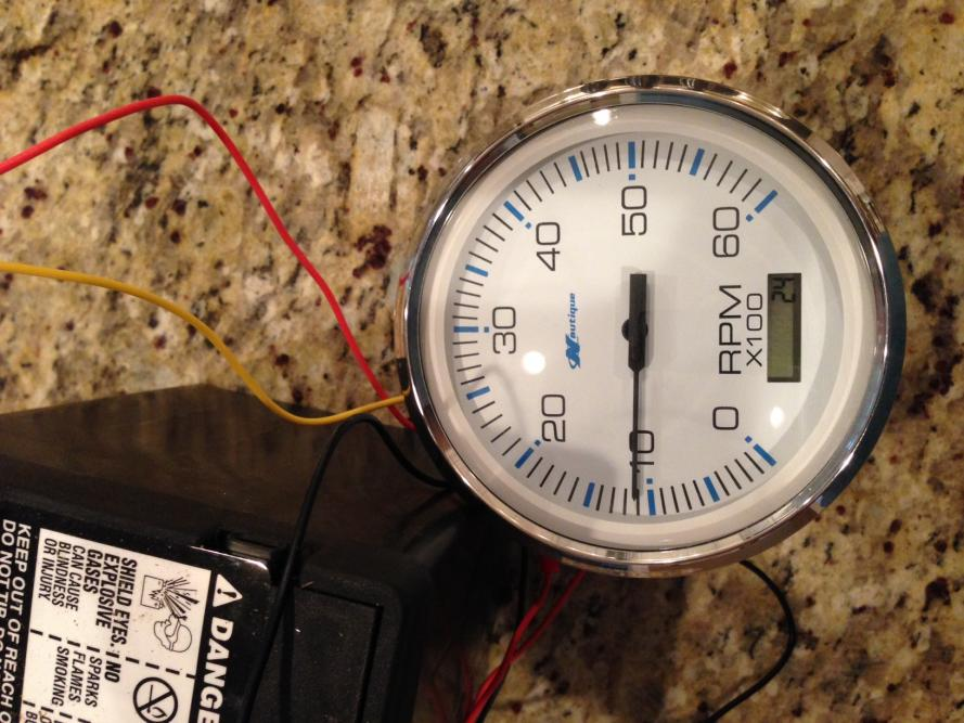 Adding hours to new Faria tach - PlanetNautique Forums